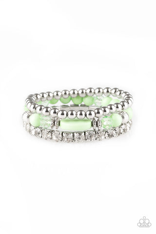 Paparazzi Accessories - Modestly Madonna - Green Bracelets - JMJ Jewelry Collection
