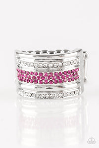 Paparazzi Accessories - Top Dollar Drama - Pink Ring - JMJ Jewelry Collection