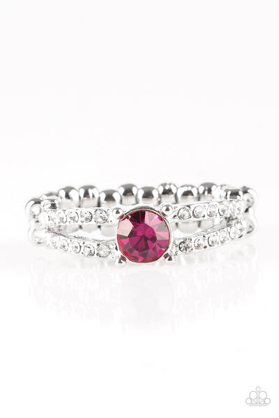 Paparazzi Accessories - Dream Sparkle - Pink Ring - JMJ Jewelry Collection