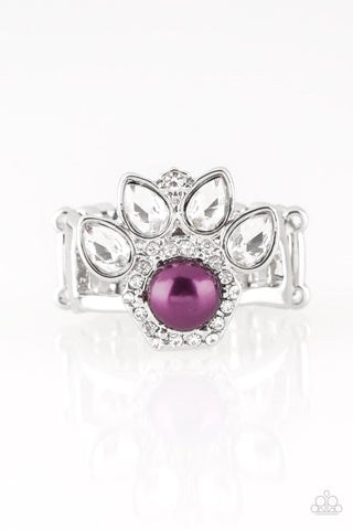 Paparazzi Accessories - Crown Coronation - Purple Ring - JMJ Jewelry Collection