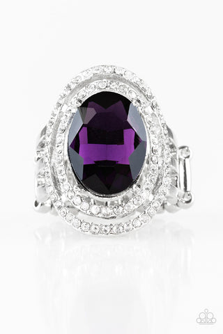Paparazzi Accessories - Making History - Purple Ring - JMJ Jewelry Collection