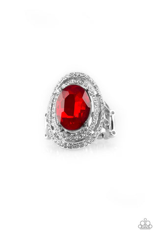 Paparazzi Accessories - Making History - Red Ring - JMJ Jewelry Collection