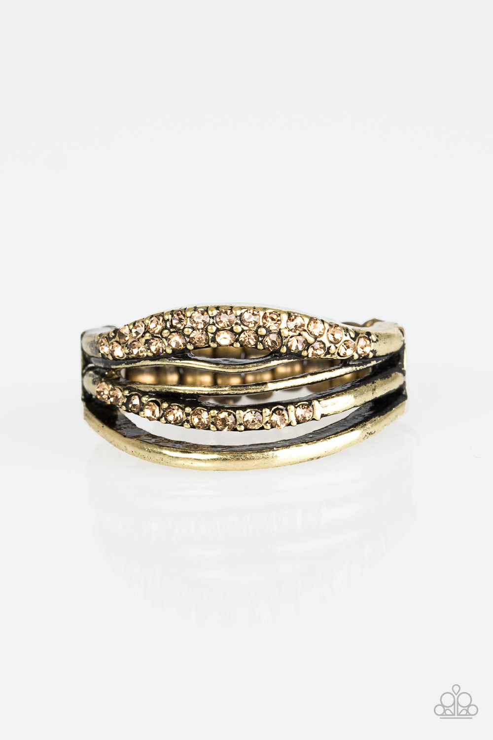 Paparazzi Accessories - Bank On It - Brass Ring - JMJ Jewelry Collection