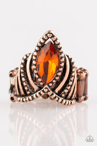 Paparazzi Accessories - Heres Your Crown - Copper Ring - JMJ Jewelry Collection