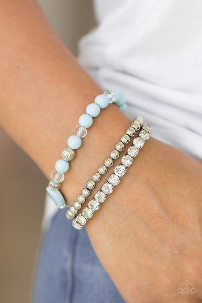Paparazzi Accessories - Modestly Madonna - Blue Bracelets - JMJ Jewelry Collection