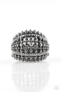 Paparazzi Accessories - Up In ARMOR - Black Ring - JMJ Jewelry Collection