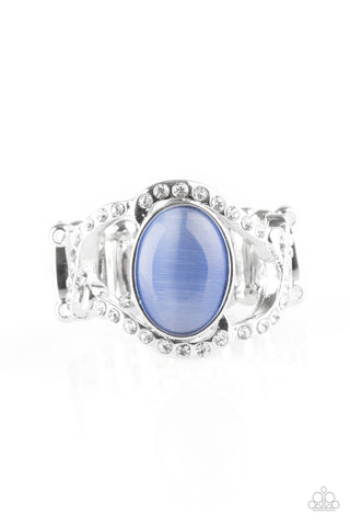 Paparazzi Accessories - Moulin Moon - Blue Ring - JMJ Jewelry Collection
