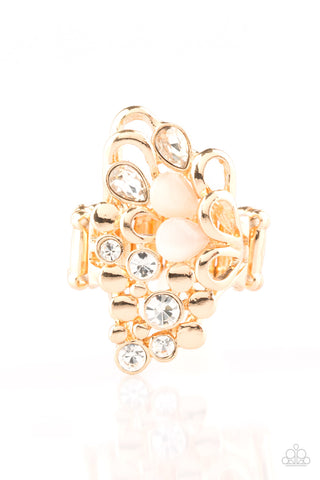 Paparazzi Accessories - Sparkle Splash - Gold Ring - JMJ Jewelry Collection