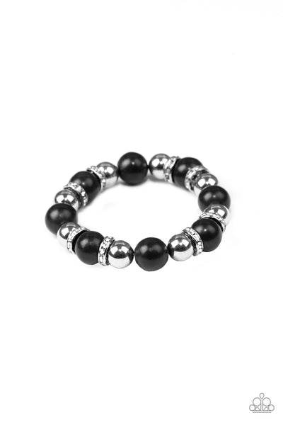 Paparazzi Accessories - Ruling Class Radiance - Black Bracelet - JMJ Jewelry Collection