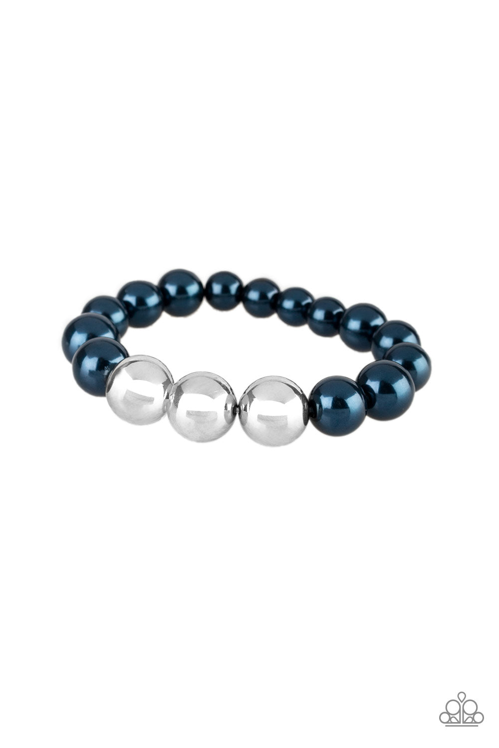 Paparazzi Accessories - All Dressed UPTOWN - Blue Bracelet - JMJ Jewelry Collection