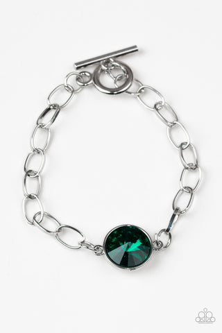 Paparazzi Accessories - All Aglitter - Green Bracelet