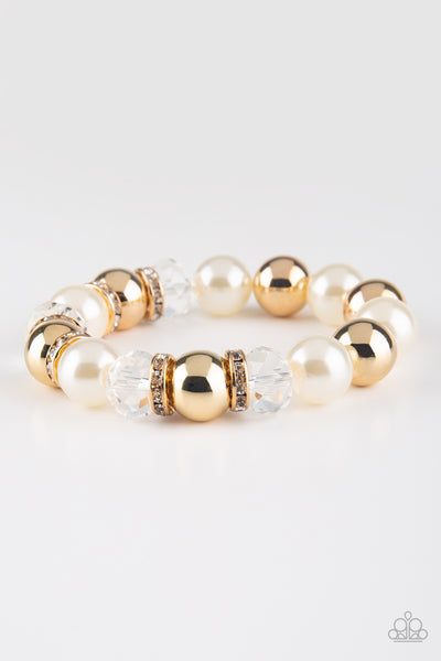 Paparazzi Accessories - Camera Chic - White Bracelet - JMJ Jewelry Collection