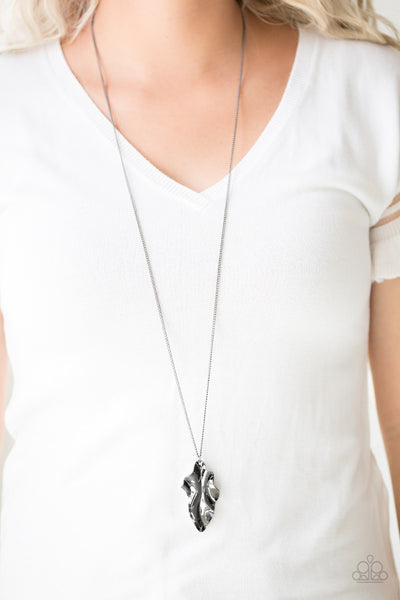 Paparazzi Accessories - Fiercely Fall - Black Necklace Set - JMJ Jewelry Collection