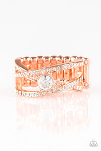 Paparazzi Accessories - Prepare To Be Dazzled! - Copper Ring - JMJ Jewelry Collection