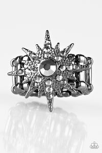 Paparazzi Accessories - Super Stellar - Black Ring - JMJ Jewelry Collection