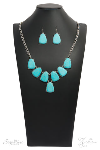 Paparazzi Accessories - The Geraldine - Blue Necklace Set