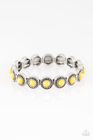 Paparazzi Accessories - Globetrotter Goals - Yellow Bracelets - JMJ Jewelry Collection