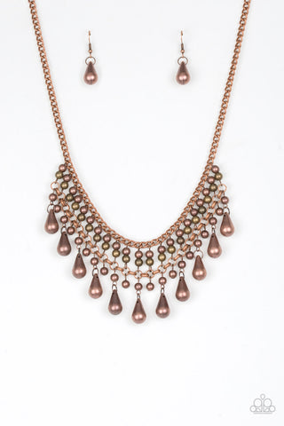 Paparazzi Accessories - Dont Forget To BOSS! - Copper Necklace Set - JMJ Jewelry Collection