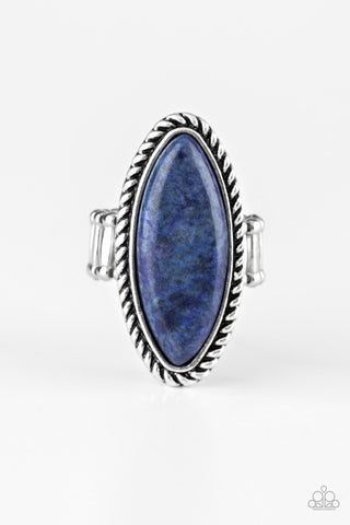 Paparazzi Accessories - Eco Ego - Blue Ring - JMJ Jewelry Collection