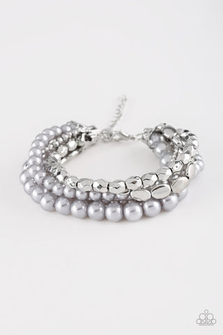 Paparazzi Accessories - Metro Mix Up - Silver Bracelet - JMJ Jewelry Collection