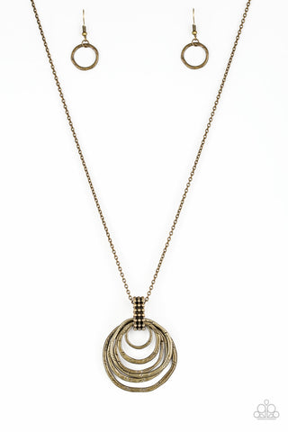 Paparazzi Accessories - Rippling Relic - Brass Necklace Set - JMJ Jewelry Collection