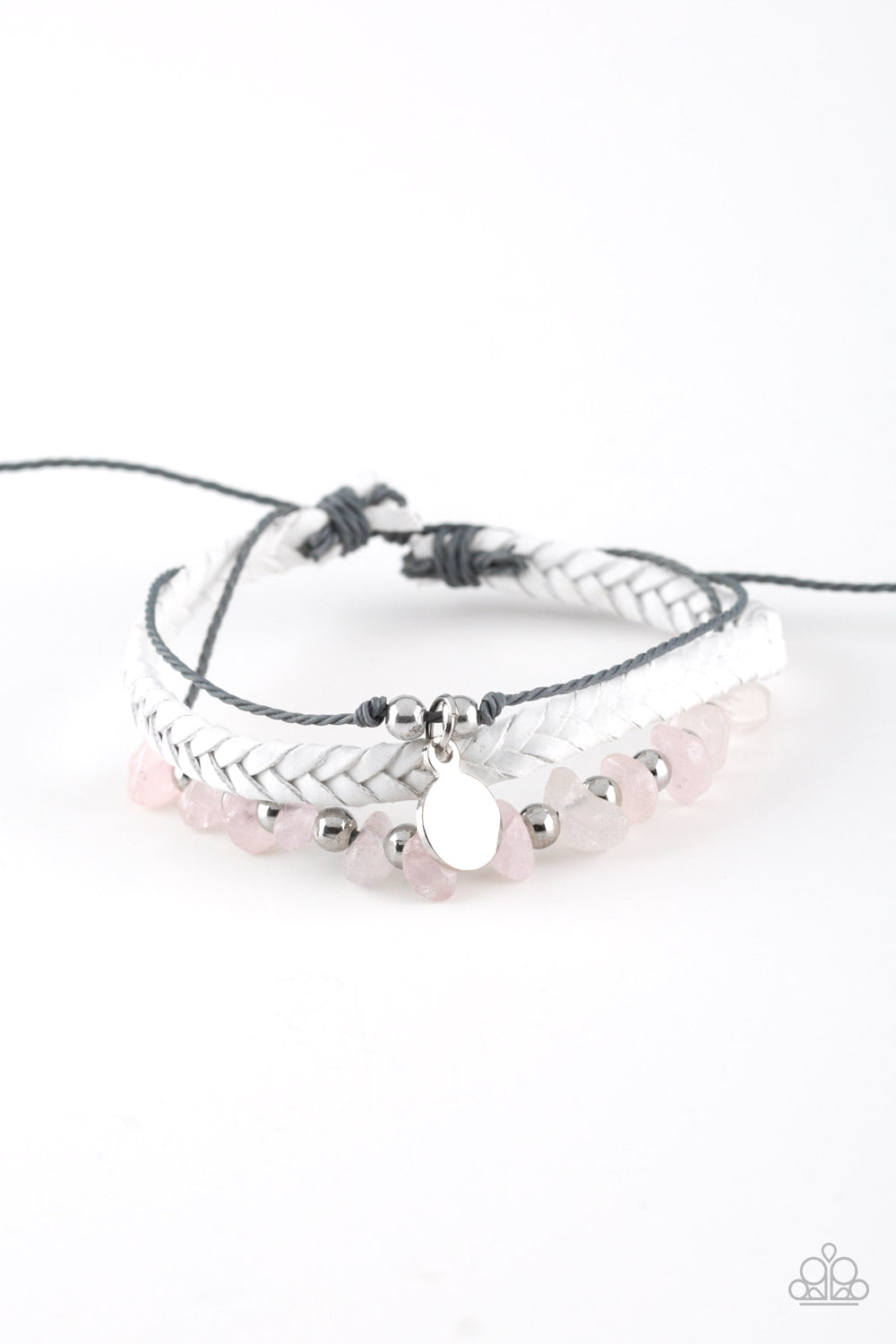 Paparazzi Accessories - A PEACE Of Work - Pink Bracelet - JMJ Jewelry Collection