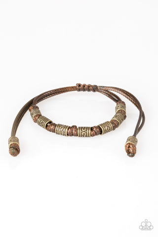 Paparazzi Accessories - Port Of Call - Brown Bracelets - JMJ Jewelry Collection