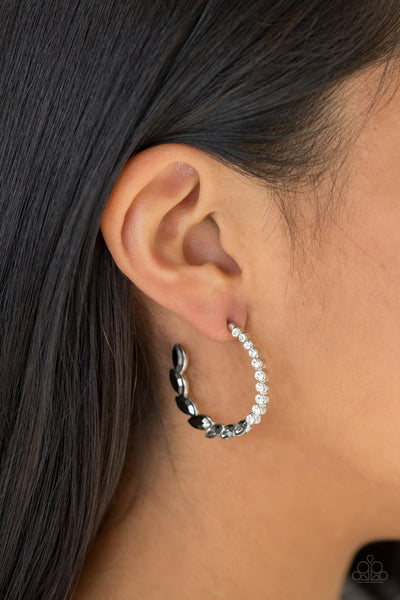 Paparazzi Accessories - Prime Time Princess - Black Earrings - JMJ Jewelry Collection
