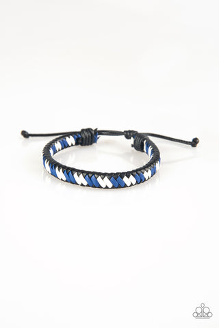 Paparazzi Accessories - Adventure Attitude - Blue Bracelet
