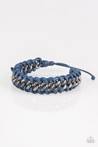 Paparazzi Accessories - Racer Edge - Gunmetal Bracelet - JMJ Jewelry Collection
