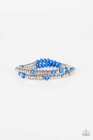 Paparazzi Accessories - Downright Dressy - Blue Bracelets - JMJ Jewelry Collection