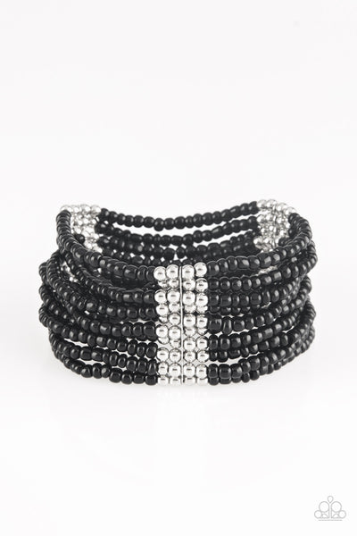 Paparazzi Accessories - Outback Odyssey - Black Bracelet - JMJ Jewelry Collection
