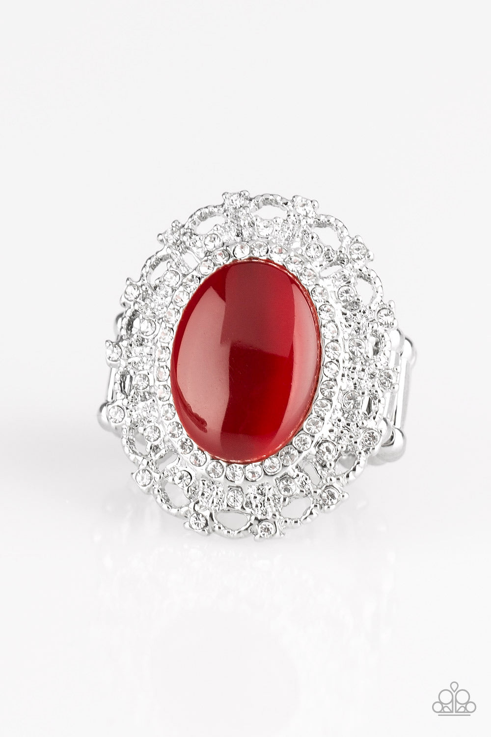Paparazzi Accessories - BAROQUE The Spell - Red Ring - JMJ Jewelry Collection