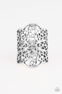Paparazzi Accessories - The Way You Make Me FRILL - Silver Ring - JMJ Jewelry Collection