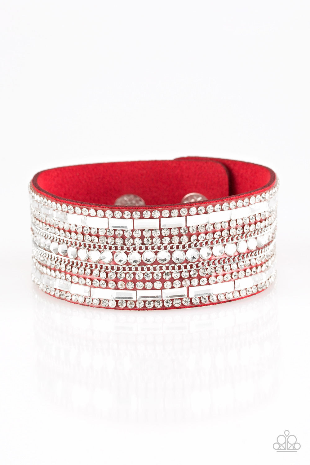Paparazzi Accessories - Rebel Radiance - Red Bracelet - JMJ Jewelry Collection