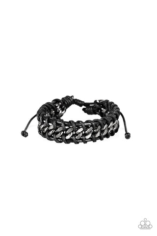Paparazzi Accessories - Racer Edge - Black Bracelet - JMJ Jewelry Collection