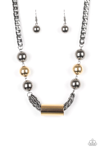 Paparazzi Accessories - All About Attitude - Black Necklace Set - JMJ Jewelry Collection