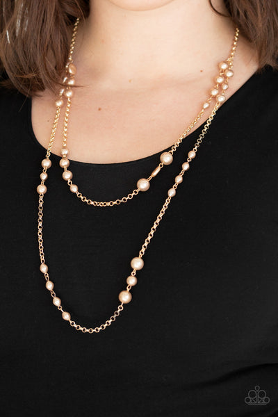 Paparazzi Accessories - Pearl Promenade - Gold Necklace Set - JMJ Jewelry Collection
