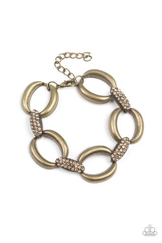 Paparazzi Accessories - Dont Forget Whos Boss! - Brass Bracelets - JMJ Jewelry Collection