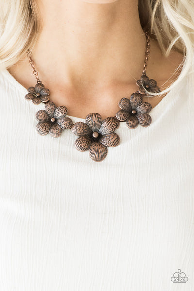 Paparazzi Accessories - Secret Garden - Copper Necklace Set - JMJ Jewelry Collection