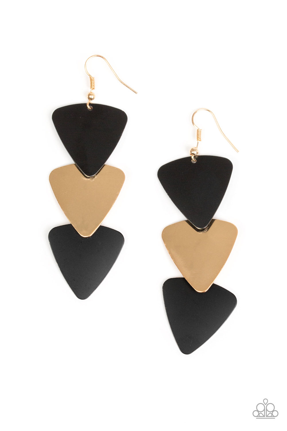 Paparazzi Accessories - Terra Trek - Black Earrings - JMJ Jewelry Collection