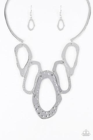 Paparazzi Accessories - Prime Prowess - Silver Necklace Set - JMJ Jewelry Collection