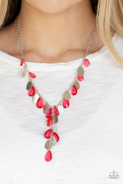 Paparazzi Accessories - Sailboat Sunsets - Red Necklace Set - JMJ Jewelry Collection