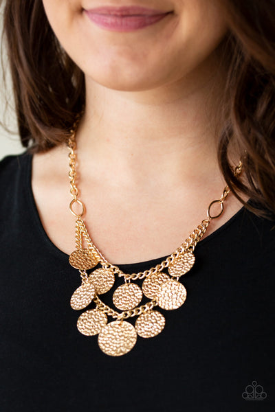 Paparazzi Accessories - Works Every CHIME - Gold Necklace Set - JMJ Jewelry Collection