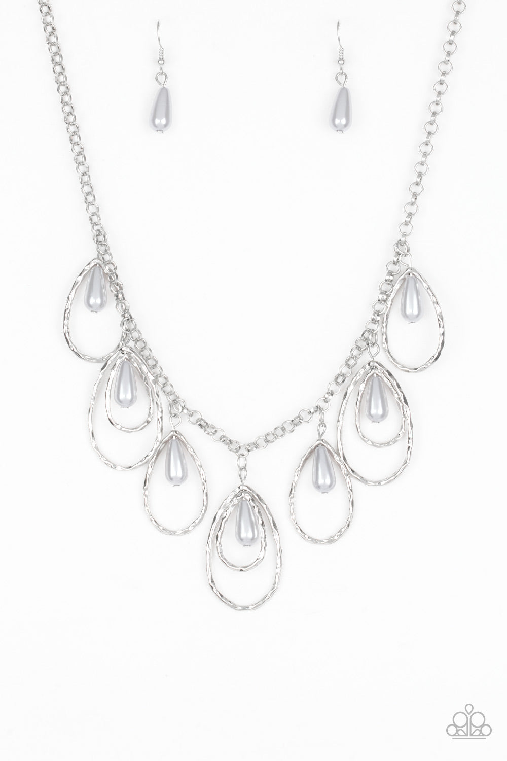 Paparazzi Accessories - Rustic Ritz - Silver Necklace Set - JMJ Jewelry Collection