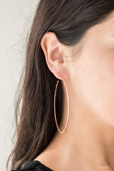 Paparazzi Accessories - Hooked On Hoops - Copper Earrings - JMJ Jewelry Collection
