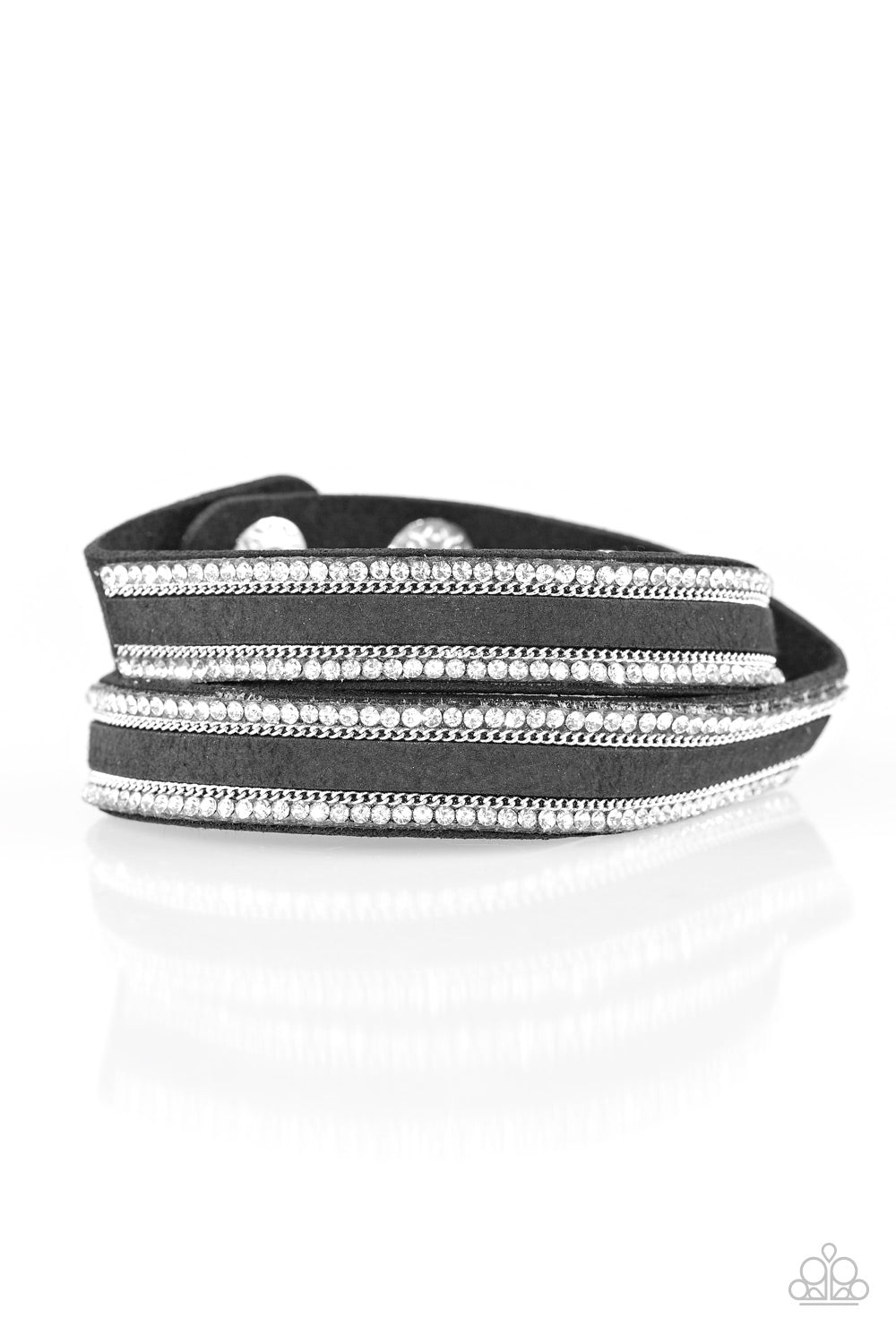 Paparazzi Accessories - Going For Glam - Black Bracelet - JMJ Jewelry Collection