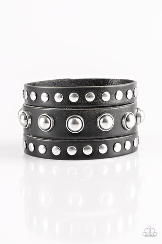 Paparazzi Accessories - Win Your Spurs - Black Bracelet - JMJ Jewelry Collection