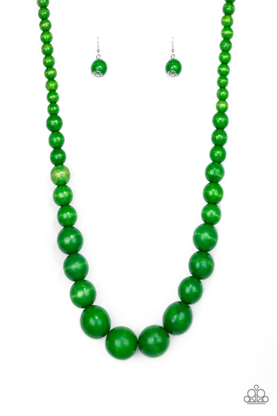 Paparazzi Accessories - Effortlessly Everglades - Green Necklace Set - JMJ Jewelry Collection