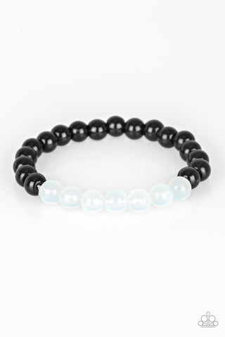 Paparazzi Accessories - Cool and Content - White & Black Bracelet - JMJ Jewelry Collection